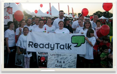 ReadyTalk empoyees volunteering at Light the Night