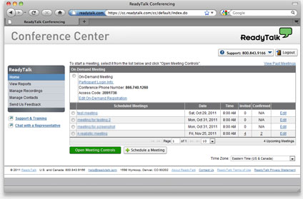Web Conferencing Interface with Full-Featured Tools