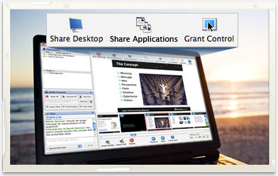 Web Conferencing Interface with Sharing Tools