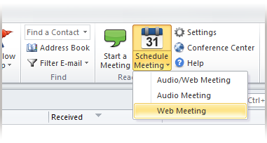 ReadyTalk Scheduler for Outlook