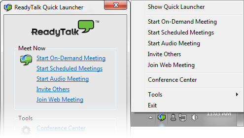 ReadyTalk Quick Launcher