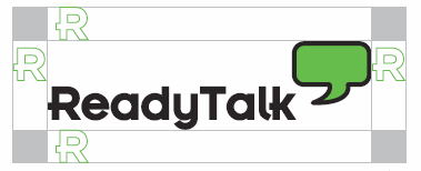 Safe placement of ReadyTalk Logo